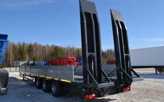 Перевозка тралом — конструкция и особенности полуприцепа.