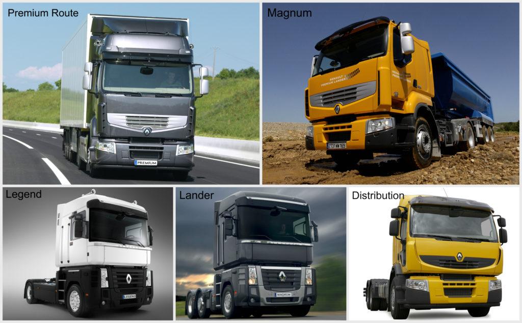 Модельный ряд грузовиков Renault