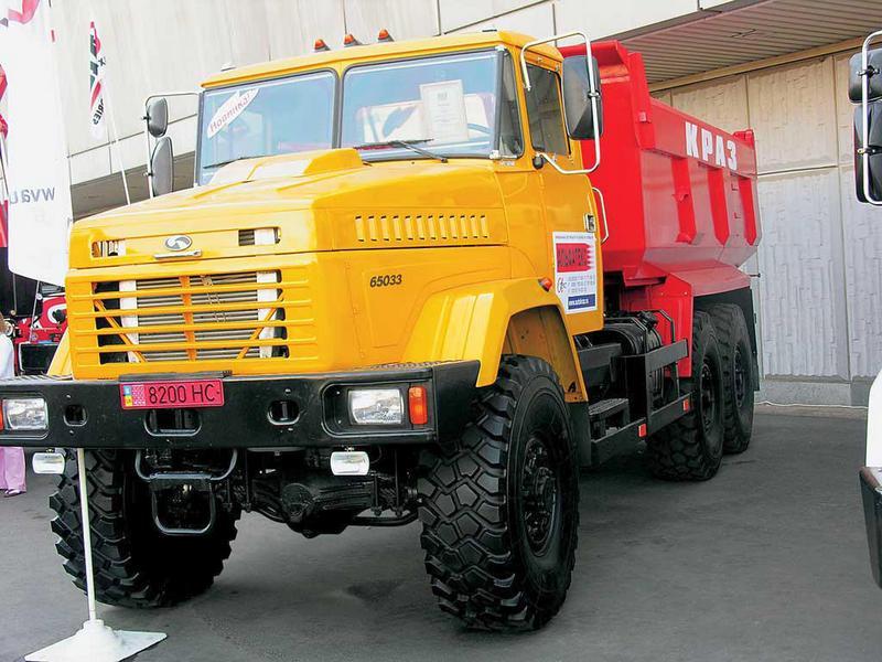 КрАЗ-65032 с двускатной ошиновкой