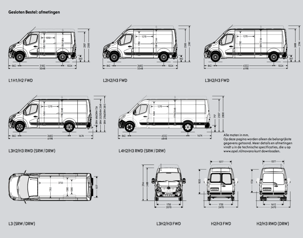 Specificaties-Opel-Movano