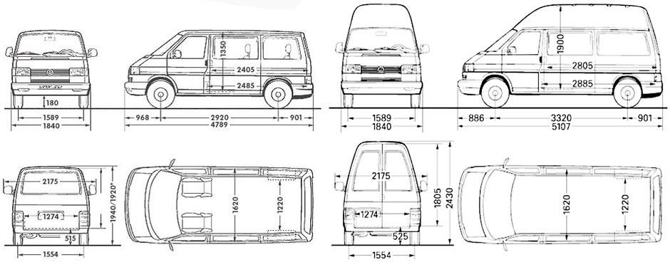 Длина салона фольксвагена транспортера транспортер т4 клапан тнвд