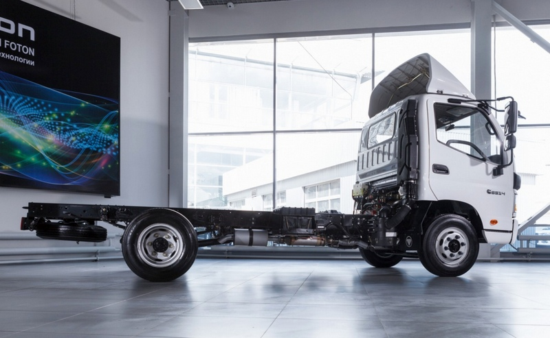 Шасси позволяет установить кузов длиной 3,2-4,6 м.