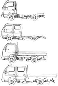 Варианты шасси Nissan Cabstar