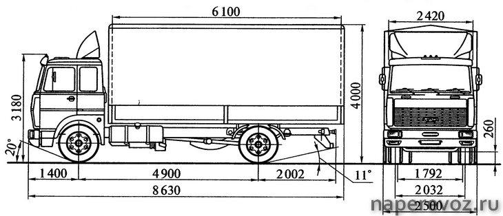 МАЗ 5336 чертежи