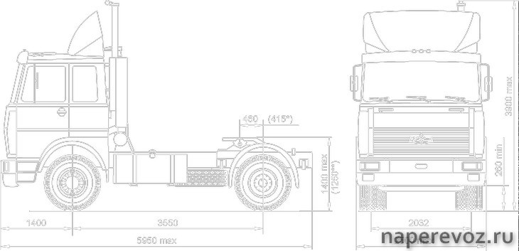МАЗ 54329 схема